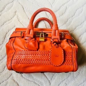 Gucci Woven Handmade Leather Satchel